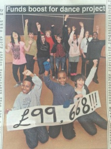 I did loads of fundraising for CYT. This was printed in the Express and Star running up to the Cultural Olympiad Project.